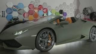 فيديو لمبرجيني تعرض لون غريب على سيارة هوراكان سبايدر