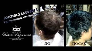 Как покрасить волосы в темно-синий? ANTHOCYANIN B01