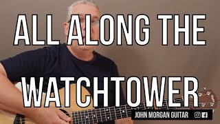 """Video How to Play """"All Along the Watchtower"""" by Bob Dylan (Guitar) download MP3, 3GP, MP4, WEBM, AVI, FLV Mei 2018"""
