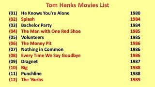 Lists Tom Hanks Is Number 1 On