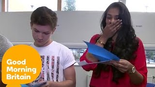 Students Open Their A Level Results Live On TV | Good Morning Britain