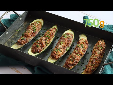 recette-des-courgettes-farcies-au-boeuf-et-ciboulette---750g
