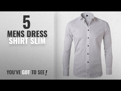 Top 10 Mens Dress Shirt Slim [ Winter 2018 ]: Men's Bamboo Fiber Dress Shirts Slim Fit Solid Long
