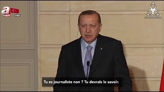 Erdogan remet en place le journaliste de France 2 devant Macron !