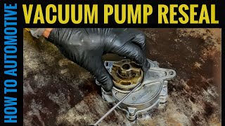 How to Reseal the Vacuum Pump on a Volvo XC60 with 2.5L Turbo (Common Oil Leak)
