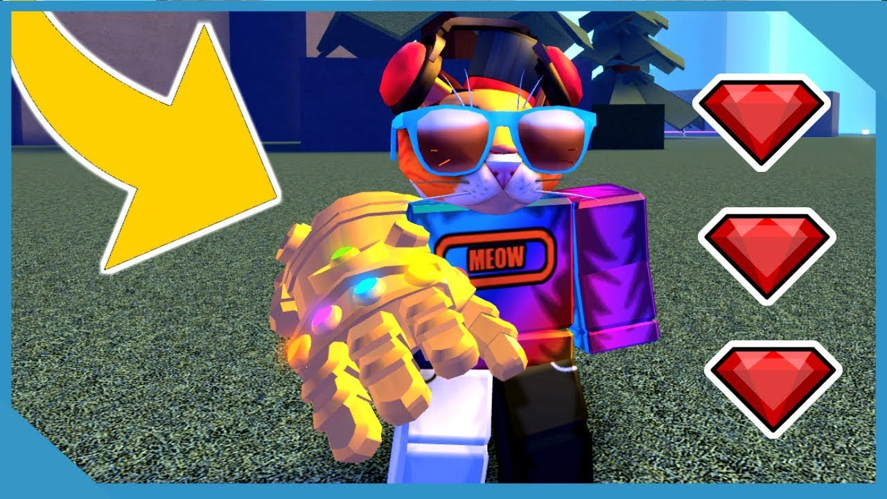 Roblox Thanos Game I Found The Infinity Gauntlet Roblox Thanos Simulator Most Powerful Cat Ever Youtube