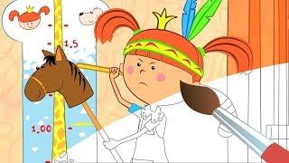 Раскраска с Царевной! Убери игрушки - Учим цвета - Развивающие, обучающие мультики для детей