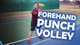 How to put away shots with a pickleball punch volley