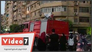 بالفيديو.. سيارات الإسعاف والحماية المدنية بمحيط مسجد عمرو بن العاص لتأمين صلاة العيد