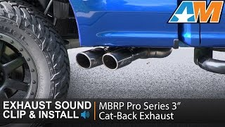 2015 2017 f 150 mbrp pro series 3 cat back exhaust 3 5l ecoboost sound clip install