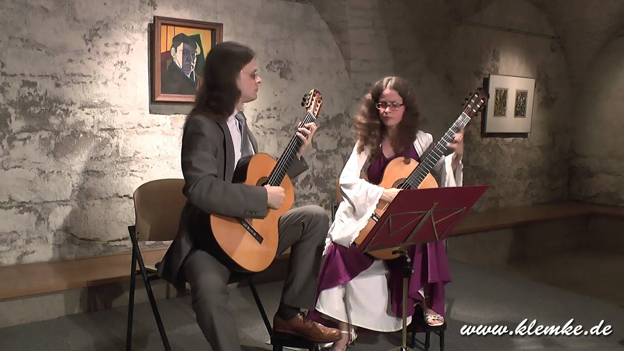 Claude Debussy: Arabesque played by Guitar Duo Klemke