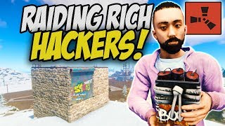 Raiding the Richest Team of Russian Hackers! - Rust Solo Survival Gameplay