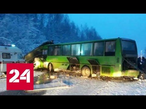 В ДТП с автобусом в Пермском крае пострадали 15 человек - Россия 24