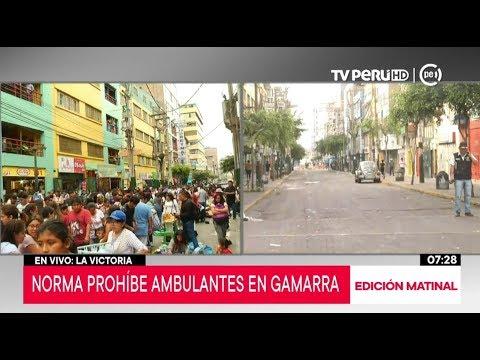 La Victoria: desde hoy se prohíbe el comercio ambulatorio en Gamarra