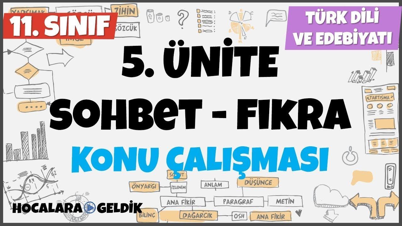 Sohbet - Fıkra, 11. Sınıf Türk Dili ve Edebiyatı