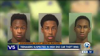 Teens suspected of multiple auto thefts tracked, arrested by PBSO