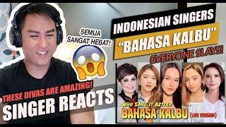BAHASA KALBU - Indonesian Female Singers (Raisa, Tiara, Lyodra, Rossa, Joy, etc.) | REACTION