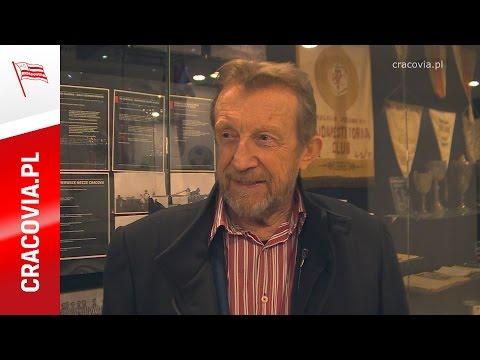 Edward Linde-Lubaszenko na meczu Cracovii (19.04.2016)
