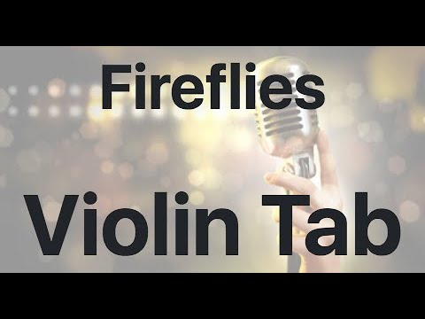 Learn Fireflies on Violin - How to Play Tutorial
