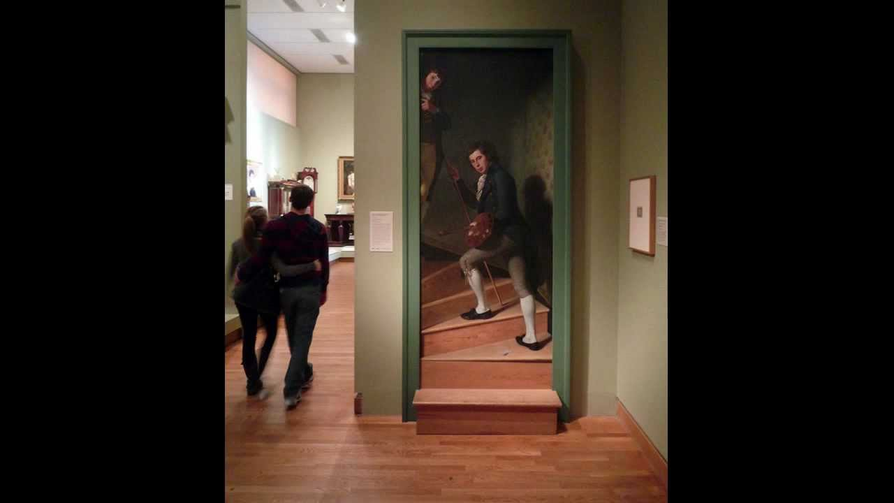 Peale Staircase Group Portrait Of Raphaelle Peale And