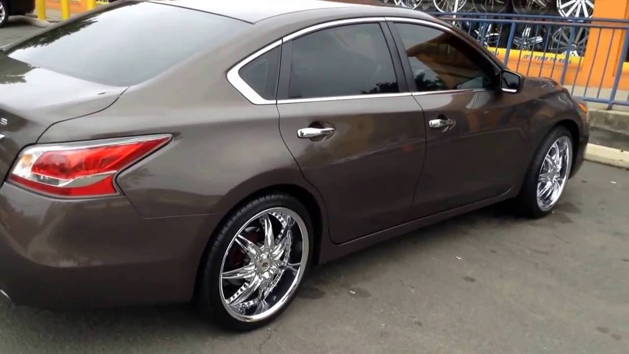 2009 Nissan Altima Rolling Out Of Rimtyme Durham On Bby 810 Rims