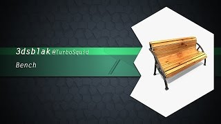 Bench 3d Model On Turbosquid