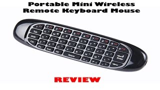 LYNEC C120 2 4G 6 Axis Portable Mini Wireless Remote Keyboard/Mouse Review