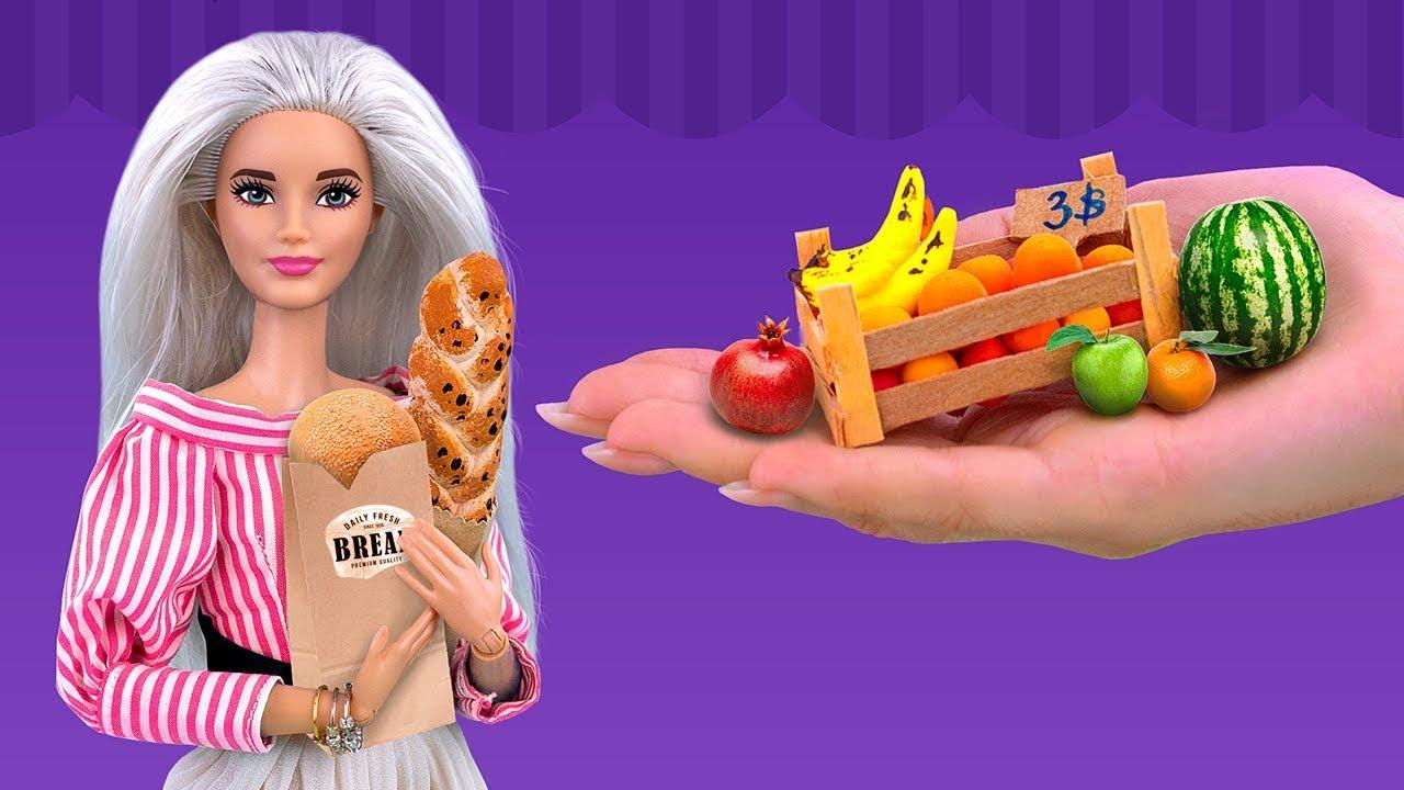 18 Kendin Yap Tarzı Minyatür Barbie Yiyeceği ve El İşi