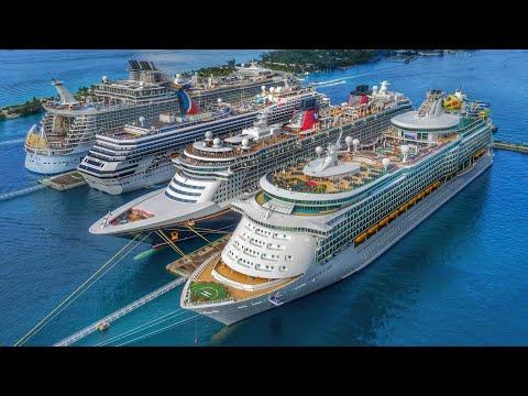Bahamas cruise ships | Nassau Cruise Terminal | Drone 4k