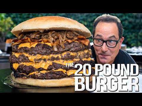 20 POUND BACON CHEESEBURGER – 2 MILLION SUBSCRIBER SPECIAL | SAM THE COOKING GUY 4K