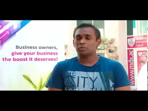 Interview with Business Administration student at Middlesex University,Dubai