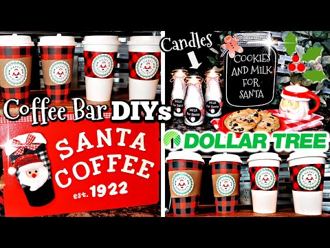 DIY DOLLAR TREE CHRISTMAS DIYS | HOLIDAY COFFEE BAR IDEAS & CANDLE GIFT IDEA | CHIC ON THE CHEAP