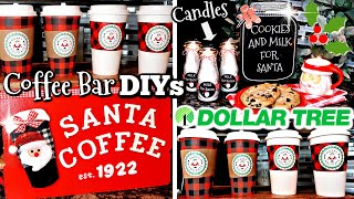DIY DOLLAR TREE CHRISTMAS COFFEE BAR & GIFT IDEAS | 6 DOLLAR STORE SANTA-THEMED DIYS