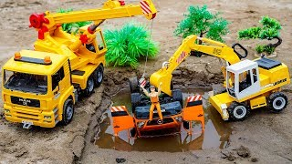 Construction Vehicles For Kids Excavator and Crane Truck Rescue Dump Truck Car Toys For Kids