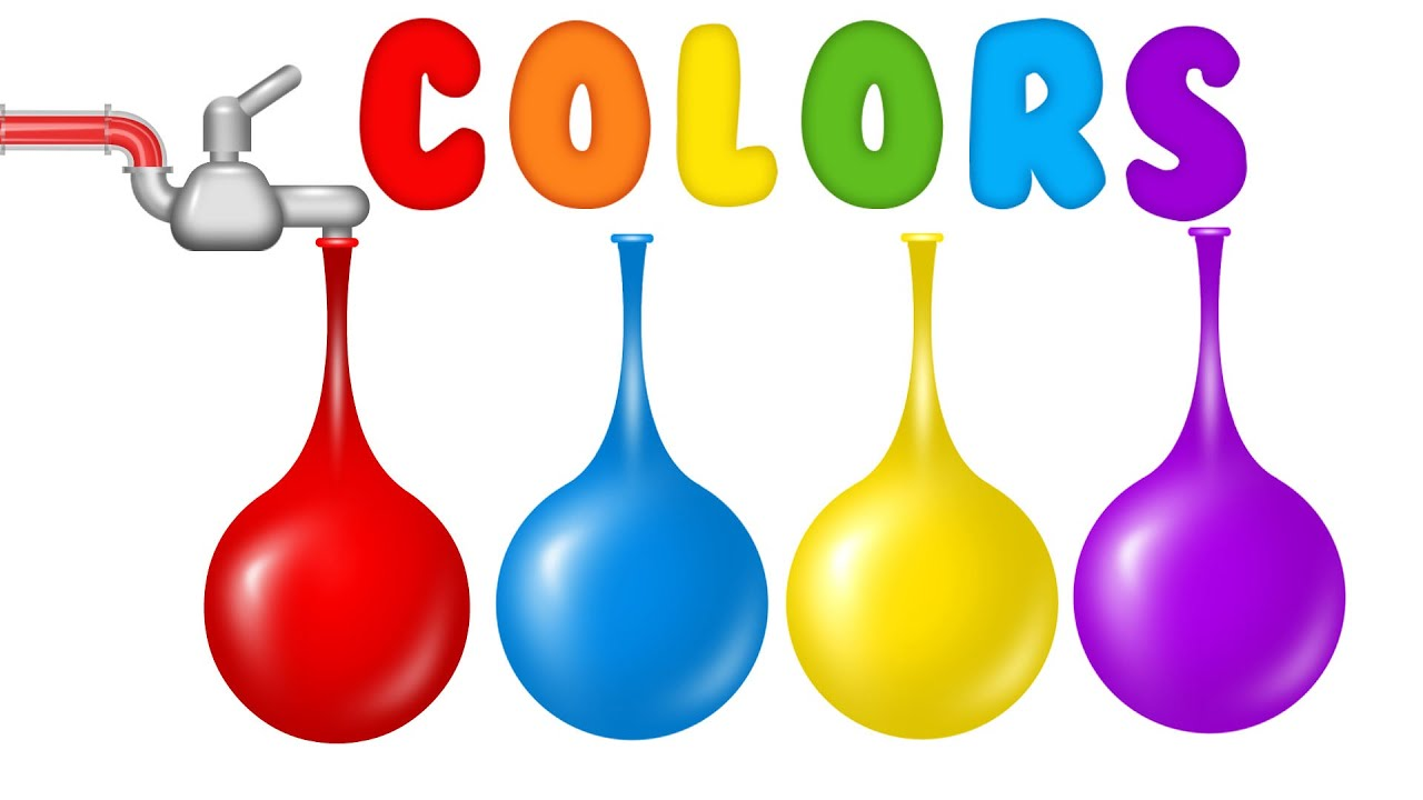 learn colors for children with water balloons colours for kids to rh youtube com  water balloon games clip art