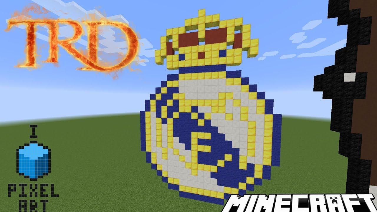 minecraft pixel art logo real madrid par trd fr youtube. Black Bedroom Furniture Sets. Home Design Ideas