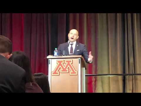 P.J. Fleck Talks About Punter Mark Crawford From Australia!