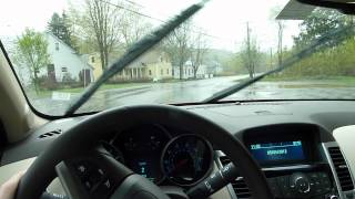 2012 Chevrolet Cruze in the rain
