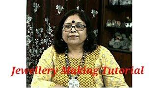 Jewellery Making Tutorial ( Earring Making ) Part - 7 / Debjani Creations Tutorial