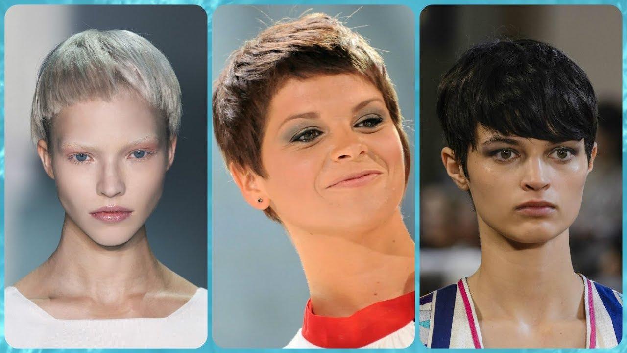 Moda tagli di capelli corti femminili - YouTube
