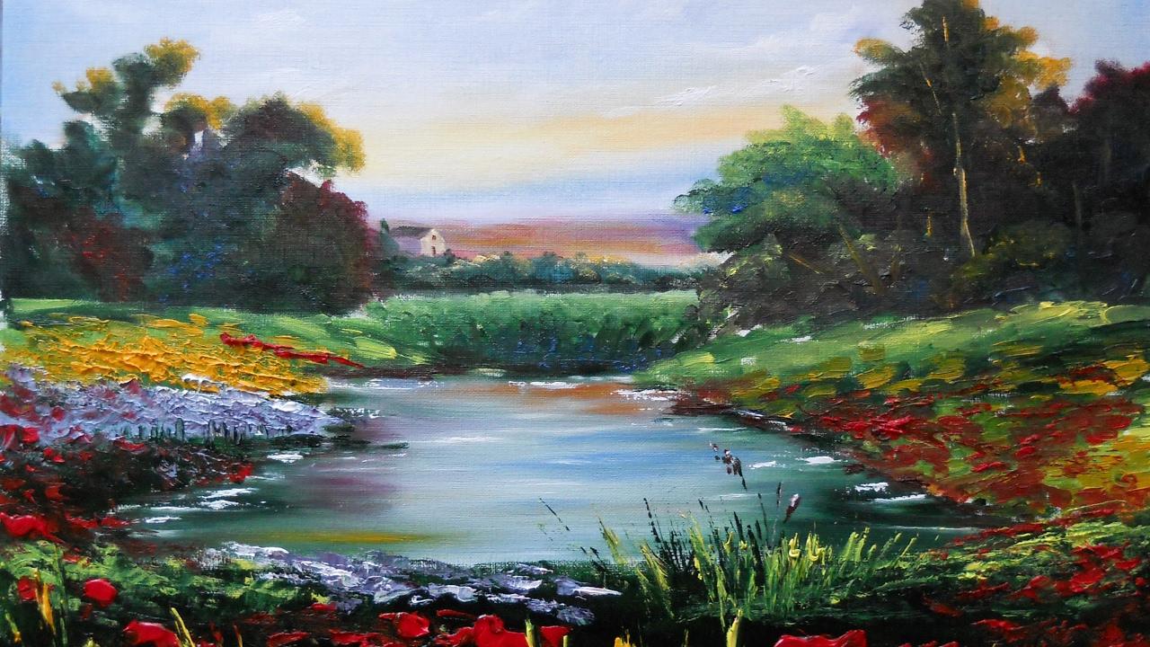 landscape painting oil lana kanyo