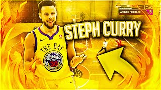 NBA2K20 STEPH CURRY BUILD - HOF PLAYMAKING BADGES WITH OP SHOOTING- DEMIGOD POINT GUARD BUILD