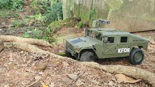 Hummer Military Vehicle at Ancient Temple by CAMRC