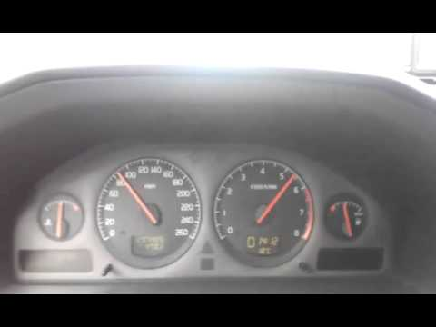 Volvo V70 2 4T turbo acceleration on Dutch road - YouTube