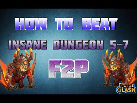 Castle Clash How To Beat Insane Dungeon 5-7 F2P!