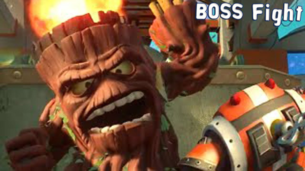 Plants Vs Zombies Garden Warfare 2 Big Stump Boss Fight Gameplay Pc Hd 1080p60fps Youtube