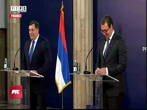 Beograd: Dodik i Vucic -pres