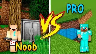 MINECRAFT - NOOB VS PRO: SECRET BASE | FUNNY MOMENTS