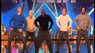 5 men aged between 40 and 60 (called Old Men Grooving) stage an int...