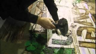 Как можно нанести изображение на бетонный пол или асфальт
